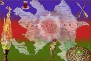 map of tourism in Azerbaijan