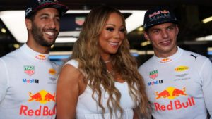 mariah-carey-usa-with-daniel-ricciardo-aus-red-bull-racing-and-max-verstappen-ned-red-bull-racing-at-formula-one-world-championship-rd8-azerbaijan-grand-prix