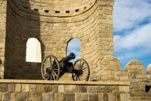 baku-a-canon-perched-on-top-of-the-old-city-walls