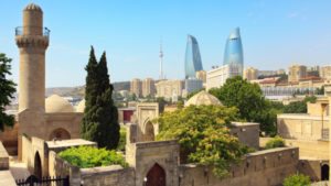 Shirvan shakir's Palace located in the Inner City of Baku, Azerbaijan, It was built in 14-15th century. The Inner City of Baku is in the list UNESCO World Heritage Site.